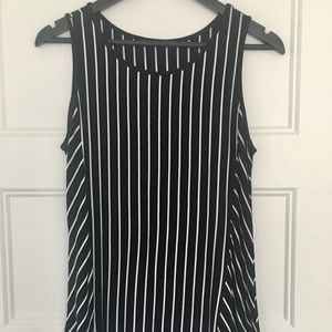 Vertical striped A line cami